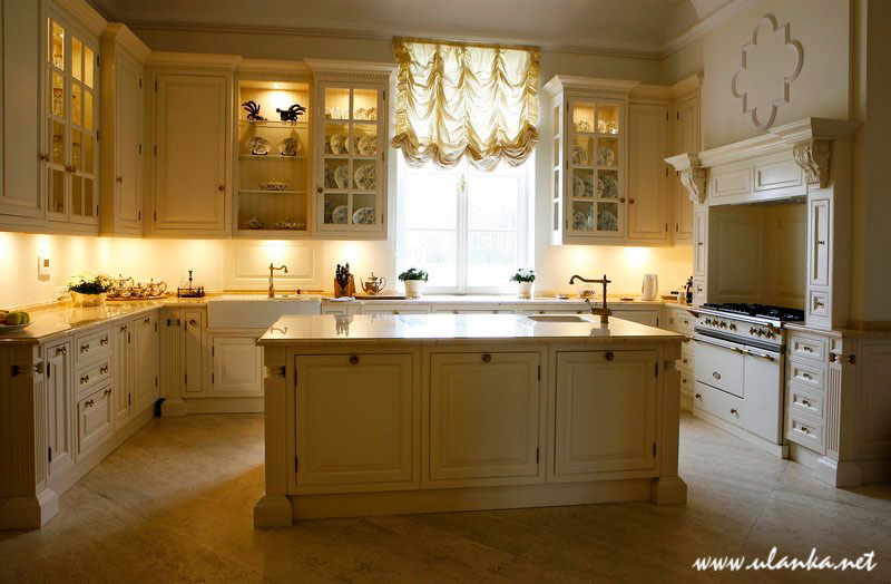 Fotografia architektury i wnętrz, kuchnia w pałacu
