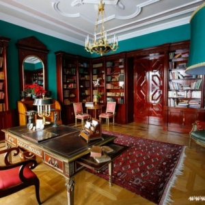 Fotografia architektury i wnętrz, biblioteka pałacowa