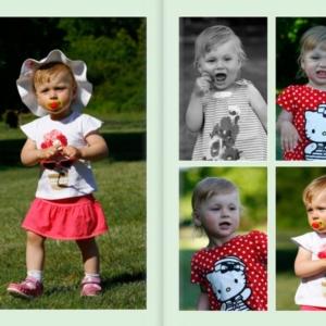 Fotoksiążka - zdjęcia uśmiechniętego dziecka