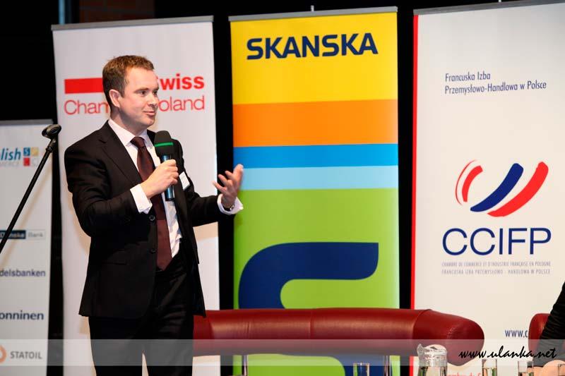 Fotografia reportażowa, konferencja Skanska
