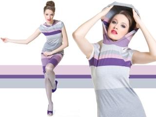 Fotografia mody, modelka w ruchu