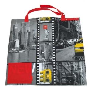 packshot - fotografia produktu, torba z wizerunkiem miasta