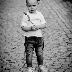 Chłopiec na ulicy