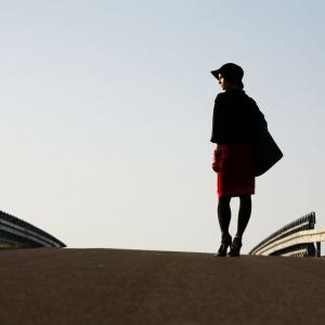 Fotografia mody, modelka na ulicy