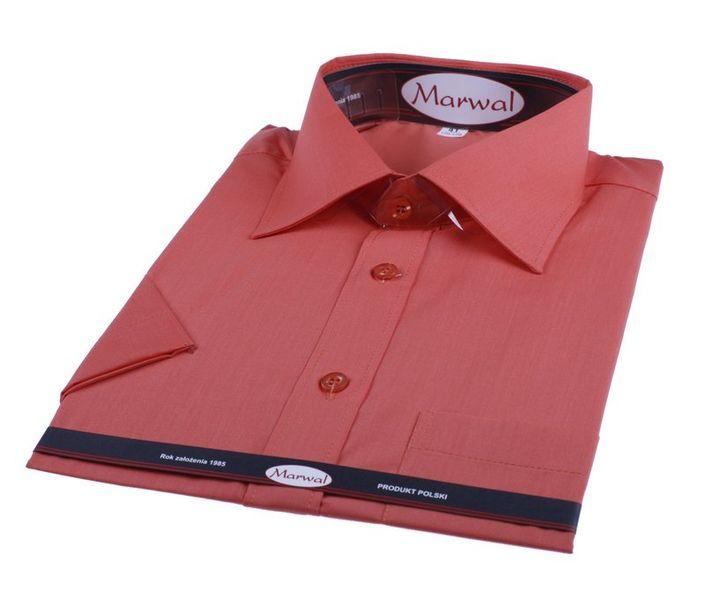 Packshot fotografia produktu, perfekcyjnie złożona bordowa koszula męska Marwal
