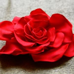Packshot czerwona róża, dodatek do odzieży