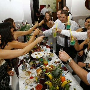 Fotografia ślubna - wesele, toast