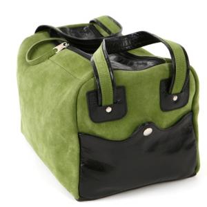 packshot - fotografia produktu, torba skórzana zielona