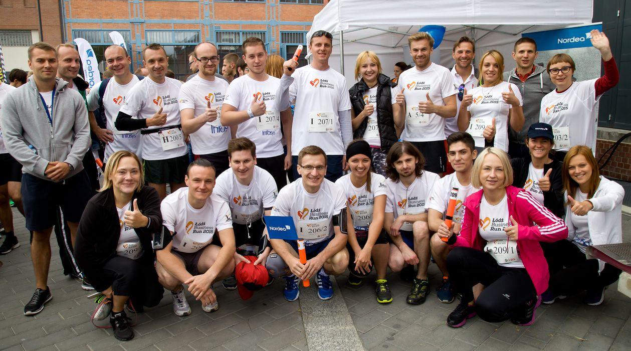 Łódź Business Run - zespół Banku Nordea