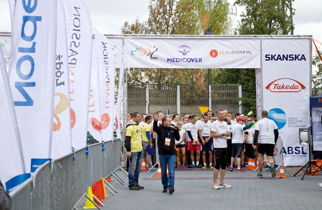 Start biegu Łódź Business Run